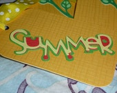 Set of 7 / SUMMER Tags / Sunflowers & Watermelon