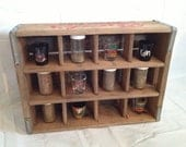 Shot Glass, Spice Rack, or other trinket display Antique Rack Franks A Quality Beverage Its the Best