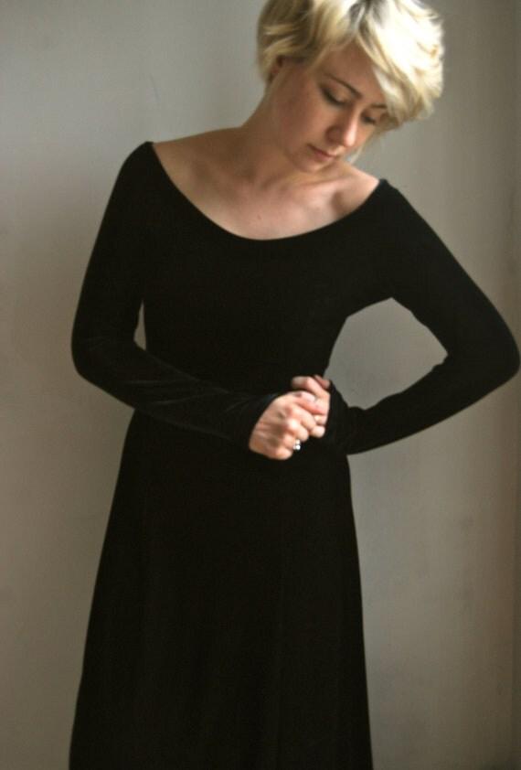 Femine, velvet, floor length dress