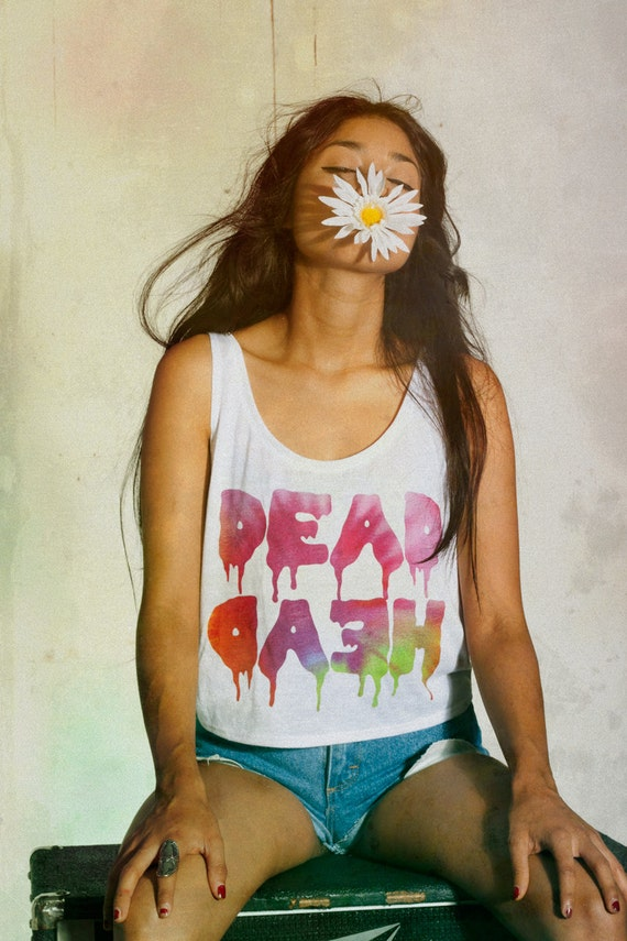 grunge dead head crop top size small