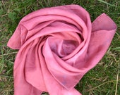Waldorf Style Children's Play Silk Rose Color 21.5 x 21.5 inches