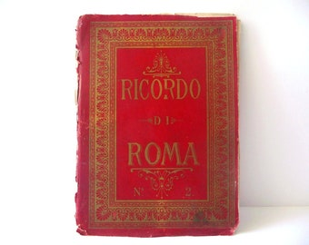 Traveling Postcard Book - Images of Monuments in Rome - Ricordo di Roma