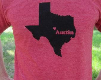 Austin Texas Screenprinted Shirt