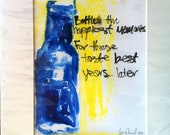 Bottle Your Memories Original Monoprint