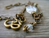 Citrine, Bronze and Om Bracelet