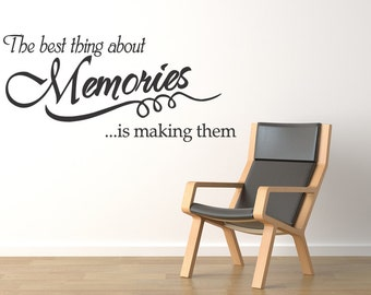 Wall Quote Wall Decal Vinyl Art Sticker - MEMORIES - (78)