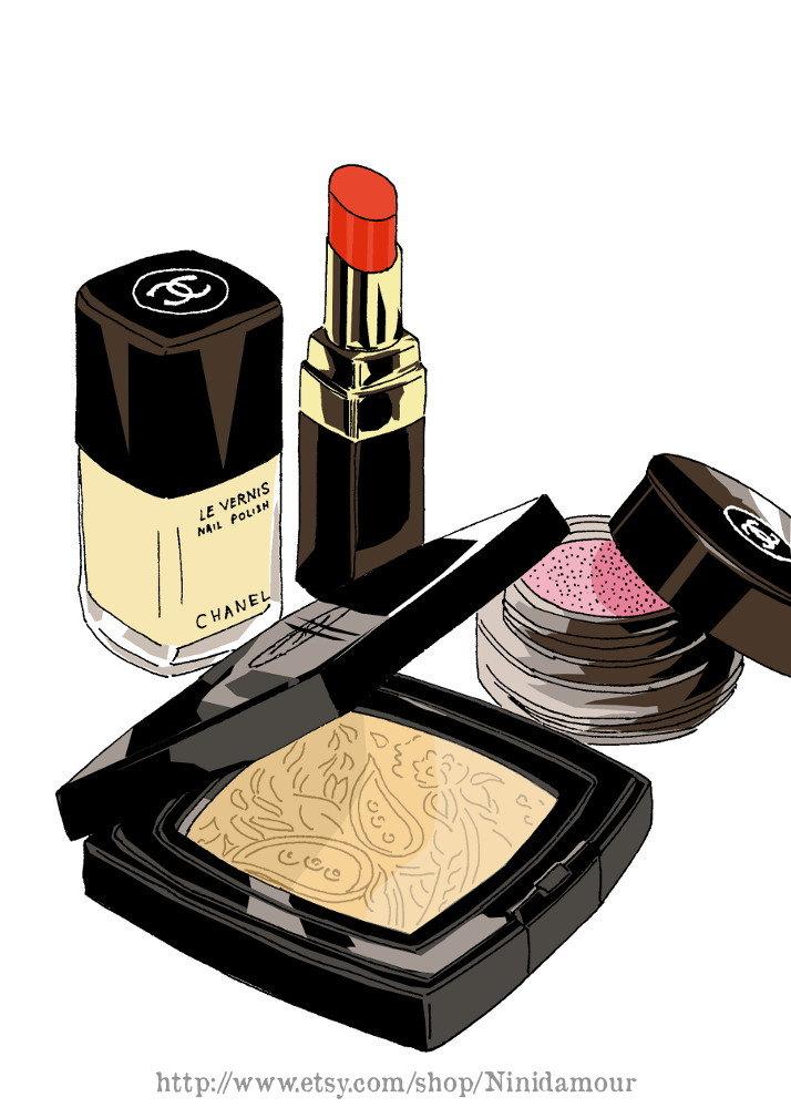 Nail Powder: Chanel Make Up Set Nail Polish Powder Labial Stick By