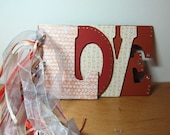 Handmade Photo Display, LOVE, Scrapbook, Valentine
