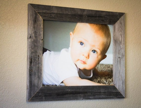 16 x 20 barnwood picture frame 100 reclaimed by drakestonedesigns. Black Bedroom Furniture Sets. Home Design Ideas