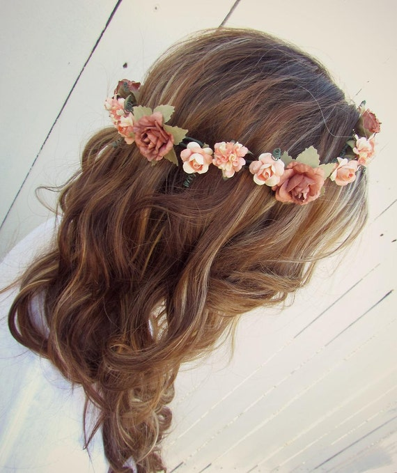 Burnt Rose Floral Crown