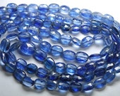 8 Inch Strand,Superb-Finest Quality Blue KYANITE Faceted Oval Nuggets ,10-6mm size