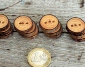 Wood Buttons-12 handmade red Pine tree branch buttons- 1 inch diameter.For hats,purses,legwarmers