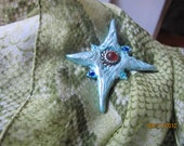 Polymer Clay Winter North Star Leads You Home Pendant