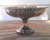 Vintage W.M. A Rogers Silverplate Pedestal Dish Candy/Nut Bowl