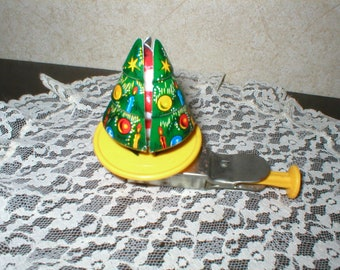 1960's Toy Cristmas Tree/Opens up to Santa