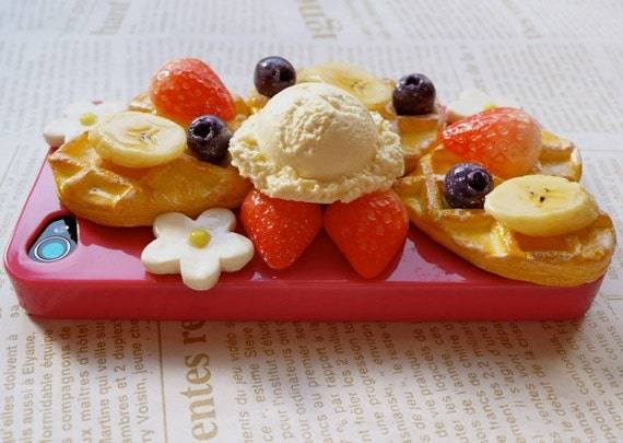 iphone 4(s) Waffle Sweets Deco Case