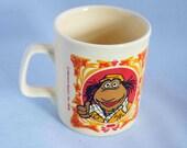 Vintage Beau the Muppet Mug-Staffordshire Kiln Craft-Made in England