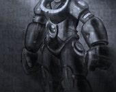 Poster Spaceman Digital Painting Sci Fi