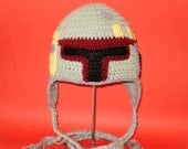 Crochet Pattern PDF Boba Fett Hat. Beanie and Earflap. (All Sizes Included: Newborn to Adult). Permission to sell finished items.