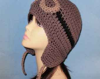 Crochet Pilot Cap Pattern Free Crochet Patterns