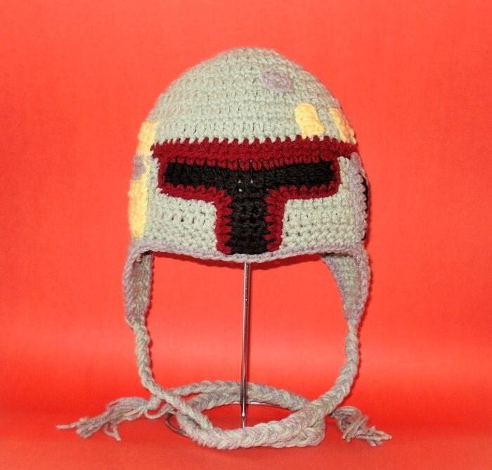 Crochet Pattern Pdf Boba Fett Hat Beanie And Earflap All