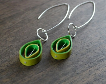 1st Anniversary Gift / Lightweight Earrings / Paper Jewelry / Eco Friendly / Paper Anniversary - Edison