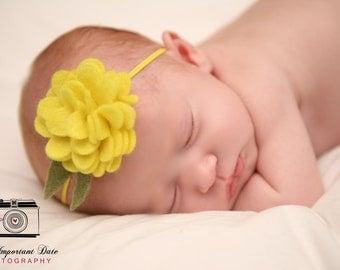 Felt Flower Headband.Felt Baby Headband.Felt Headband.Baby Headband.Newborn Headband.Eco Friendly Felt.Flower Headband.Baby Headbands Felt