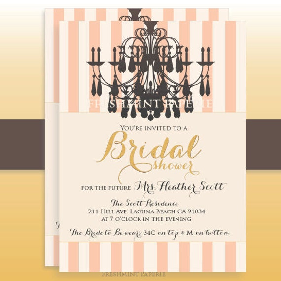 bridal shower invitation - lingerie party - lingerie shower invitation ...
