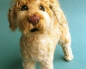 Needle Felted Fiber Sculpture of Your Goldendoodle or Other Large, Curly Coated Breed