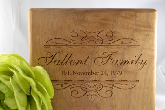 Custom Engraved  wood Cheese Board / Plaque for wedding or anniversary gift
