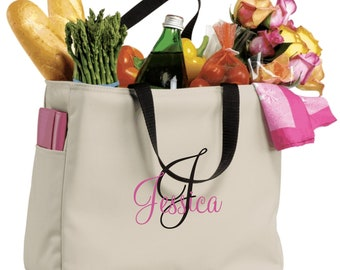 12 Bridesmaid Gift Monogrammed Personalized Tote Bag Wedding Party