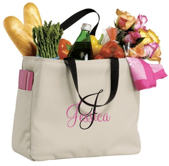 6 Bridesmaid Gift Monogrammed Personalized Tote Bag Wedding Party