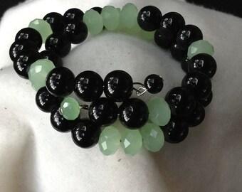 Wrap Bracelet Green,Black