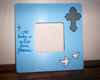 A Baby Is A Gift Picture Frame - Blue