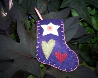 Stocking Ornament - Purple