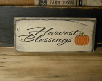 Harvest Blessings primitive sign