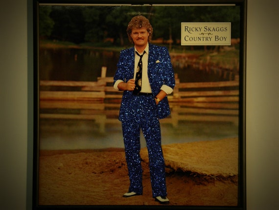 Glittered Record Album - Ricky Skaggs