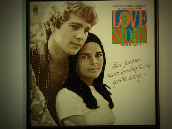 Glittered Record Album - Love Story