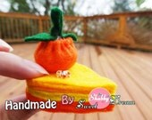 Felt pumpkin pie Magnets/refrigerator magnets/ wedding or shower favor / Felt Toy/Home decor, Handmade