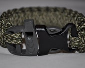 Paracord 550 Bracelet with Whistle