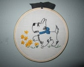 embroidered wall decor