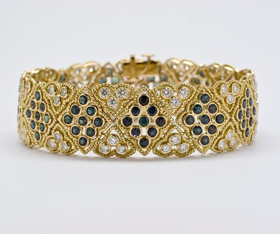 Extraordinary Alexandrite and Diamond Bracelet