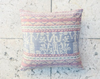 "IKAT Throw PILLOW Cover 20""x20"" inch / FREE Shipping Accent pillow Decorative pillow Ethnic pillow Tribal boho pillow"
