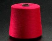 Poppy Red Acrylic Cone Machine Knitting Yarn 2Lbs aprox.