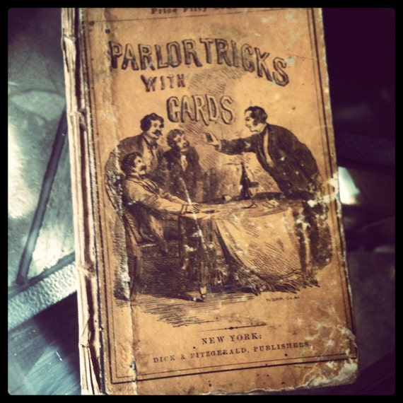 "Vintage book ""Parlor Tricks with cards"""