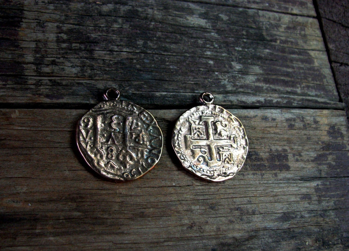 Old Spanish Coins Images Solid Bronze Spanish Cob