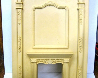 Dollhouse Miniature Grand Fireplace Besque Style - SALE!!
