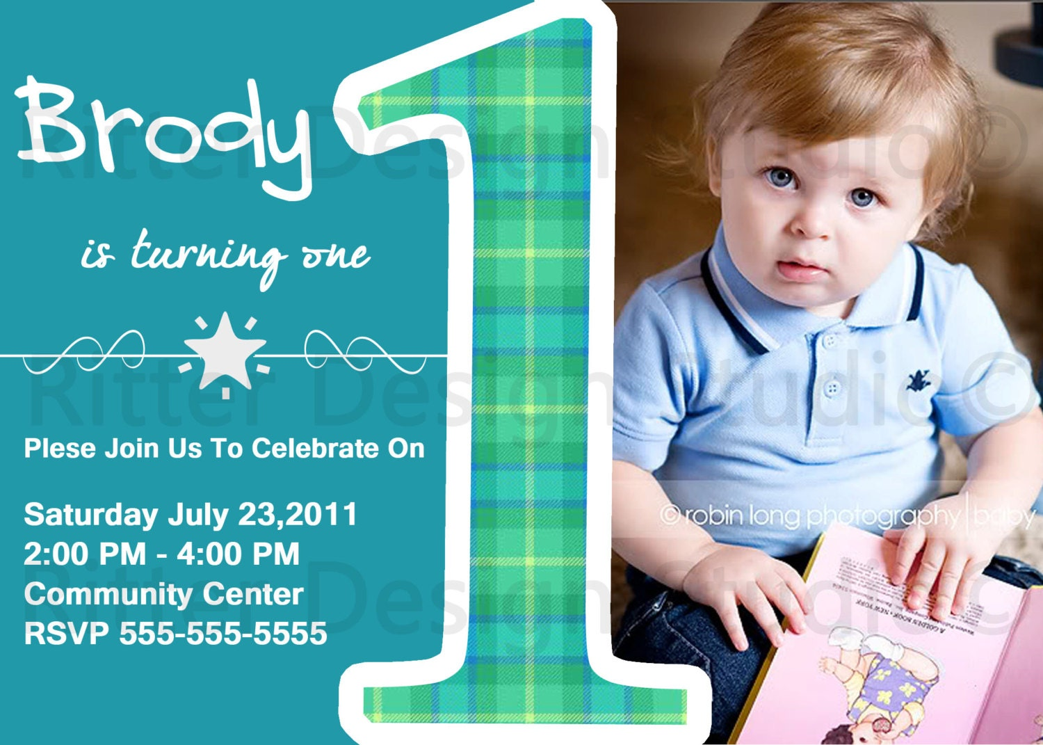 Baby Boy Gifts For 1st Birthday : Baby boy first birthday party invitation by ritterdesignstudio