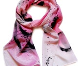 Hand Painted Enso Inspired Scarf