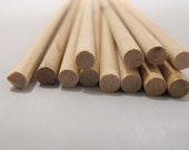 "Wooden Dowels - 100 Pack - DIY projects with these unfinished wood dowels - 12"" dowels"
